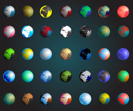 Set of colorful planets earth,eps10. Set of colorful planets earth,eps10 Royalty Free Stock Images