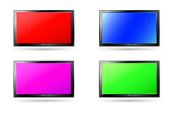Set of colorful plasma screen backgrounds Royalty Free Stock Image