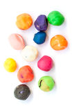 Set of colorful plasticine for kid Royalty Free Stock Image