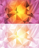 Set of colorful polygon background Stock Photos