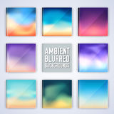 Set of colorful polygontal backgrounds concept. Royalty Free Stock Photography