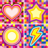 Set of colorful posters Stock Image