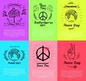 Set of Posters for Peace Day Vector Illustration vector illustration