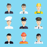 Set of colorful profession man flat style icons Stock Photo