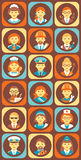 Set of Colorful Profession People Flat Style Icons Stock Image