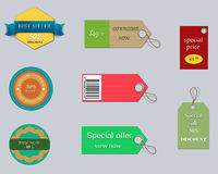 Set of colorful and promotion labels. Royalty Free Stock Image