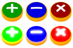 Set of colorful push buttons Royalty Free Stock Photos