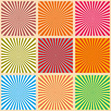 Set of colorful rays. Vector Illustration. Retro sunburst background. Grunge design element. Black and white backdrop. Good for pi Royalty Free Stock Photography