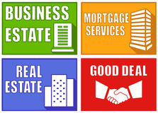 Set colorful real estate emblems Stock Photography