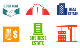 Set colorful real estate icons Royalty Free Stock Photos