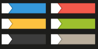 Set of 4 colorful rectangle buttons - labels - badges isolated o Royalty Free Stock Image
