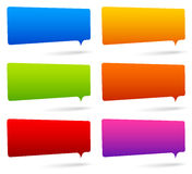 Set of colorful rectangular speech bubbles with empty space Royalty Free Stock Images