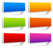 Set of colorful rectangular speech bubbles with empty space Royalty Free Stock Photography