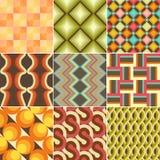 Set of Colorful Retro Seamless Pattern royalty free illustration