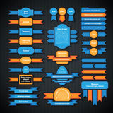 Set of colorful retro styled badges and labels. Royalty Free Stock Images
