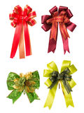 Set of colorful Ribbon Bows. On white background Royalty Free Stock Photos