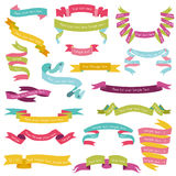 Set of Colorful Ribbons. For your Text - in - part 1 vector illustration