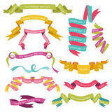 Set of Colorful Ribbons. For your Text - in - part 1 royalty free illustration
