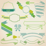 Set of Colorful Ribbons. For your Text, Design, Wedding, Invitation, Card - in stock illustration