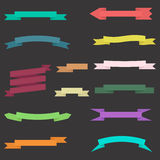 Set of colorful ribbons with background Royalty Free Stock Photography