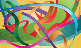 Set of colorful ribbons, bands, strips, abstract i Royalty Free Stock Image