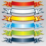 Set of Colorful Ribbons and Banners. Vector Image. Set of Colorful Ribbons. Vector Banners with Free Space for Your Text Stock Images
