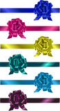 Set of colorful  ribbons with bow Royalty Free Stock Photos
