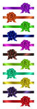Set of colorful  ribbons with bow Royalty Free Stock Images