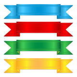 Set of colorful ribbons Royalty Free Stock Photos