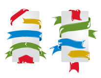 Set of colorful ribbons Royalty Free Stock Image