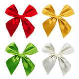 Set of colorful ribbons isolated Royalty Free Stock Images