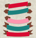 Set colorful ribbons, various forms Royalty Free Stock Image