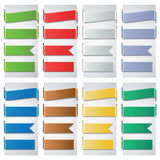 Set of the colorful ribbons. Vector illustration Stock Photos