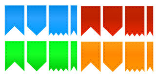 Set of colorful ribbons. Set of web colorful ribbons Stock Images