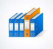 Set of colorful ring binders Stock Image