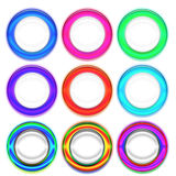 Set of Colorful Rings Royalty Free Stock Photo