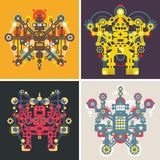 Set of colorful robots. Stock Photography
