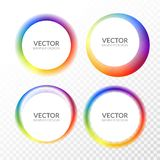 Set of colorful round abstract banners overlay shape. Graphic banners design. Label graphic fun tag concept.  vector illustration