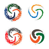 Set of colorful round abstract Stock Photo