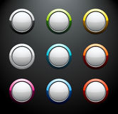 Set of colorful round buttons Stock Photo