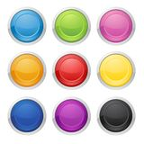 Colorful round buttons - Illustration stock illustration