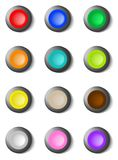Set of colorful round buttons vector illustration