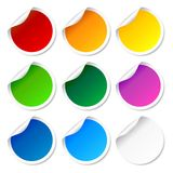 Set of colorful round labels Royalty Free Stock Photos