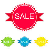 Set of colorful sale banners. In different tones Stock Photography