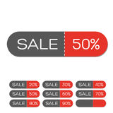 Set of Colorful Sale Labels Stock Photo