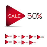 Set of Colorful Sale Labels Royalty Free Stock Photography