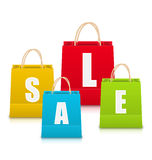 Set of Colorful Sale Shopping Bags Isolated Royalty Free Stock Image