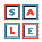 Set of colorful sale tags Stock Image