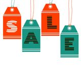Set of colorful sale tags Royalty Free Stock Image