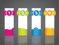 Set of colorful sample labels Stock Photos